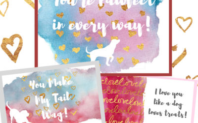 NEW Download! Dog Themed Valentine's Day Cards