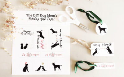 Free Dog Themed Holiday Gift Tags