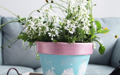 DIY Paw Print Potted Plant for Dog Moms