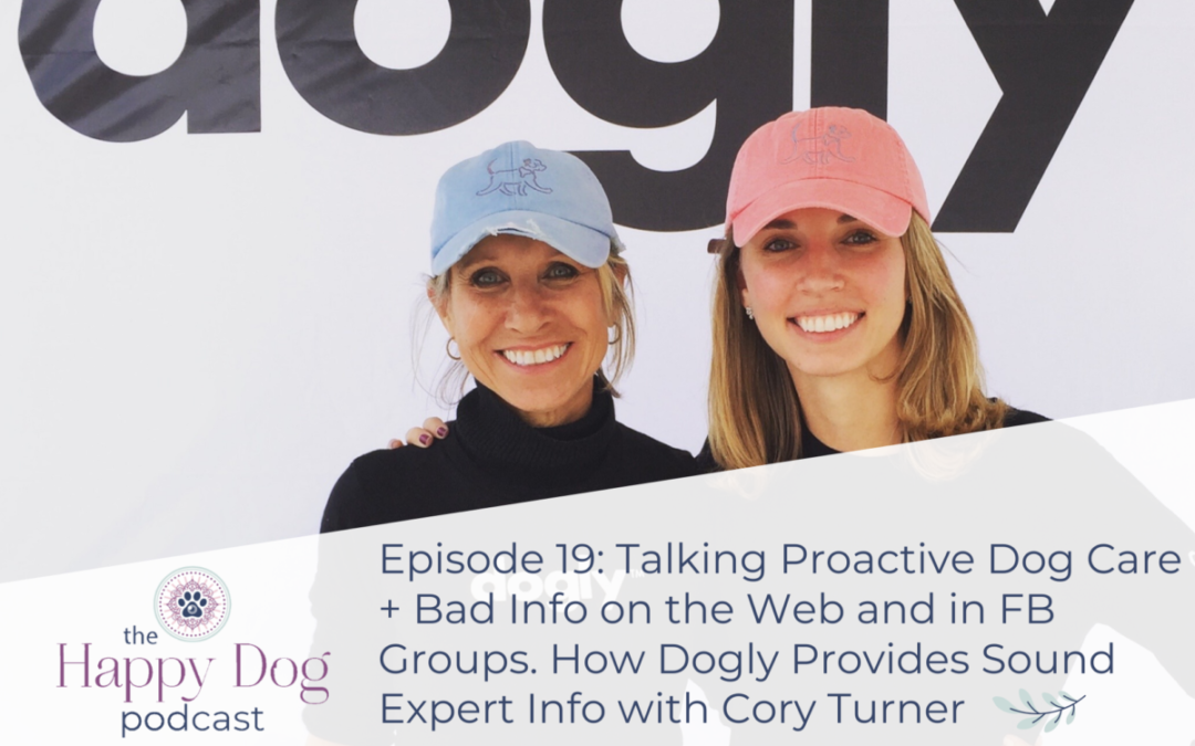 Ep 019 Talking Proactive Dog Care + Bad Info on the Web and in FB Groups. How Dogly Provides Sound Expert Info with Cory Turner